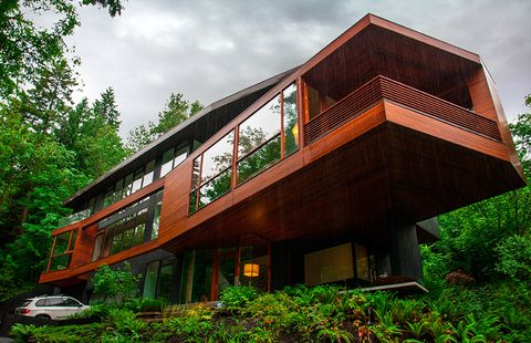 House, Architecture, Property, Building, Home, Real estate, Facade, Tree, Residential area, Wood,