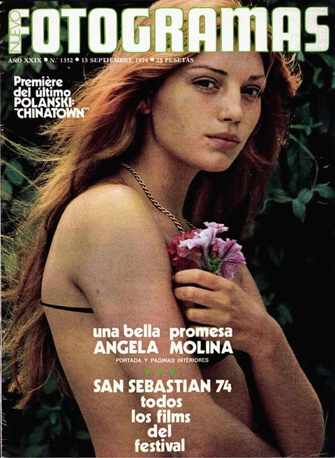Ángela molina en portada de fotogramas