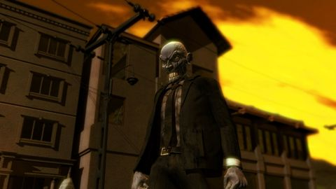 Pc game, Screenshot, Architecture, Night, Street light, Fictional character, Darkness,
