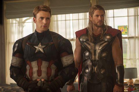 Fictional character, Costume, Armour, Superhero, Beard, Facial hair, Hero, Action film, Movie, Curtain,