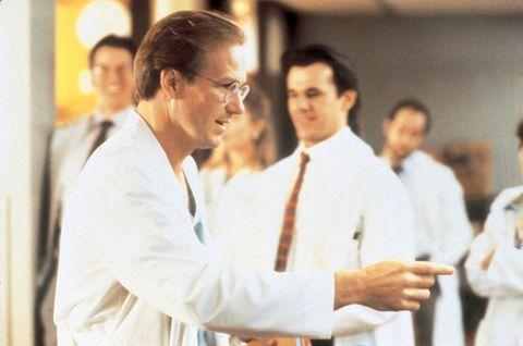 Glasses, Dress shirt, Formal wear, Uniform, White-collar worker, Job, Tie, Gesture, Ceremony, Suit trousers,
