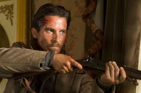shotgun, facial hair, shooting, air gun, curtain, gun barrel, leather, glove, beard, revolver,