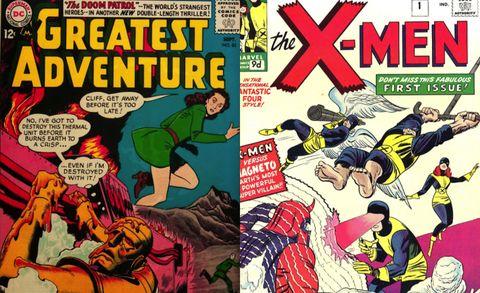 la patrulla condenada dc, junio 1963 vs la patrulla x marvel, septiembre 1963