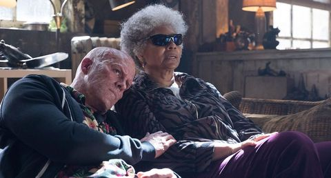 Grandparent, Eyewear, Glasses, Sitting, Vision care,