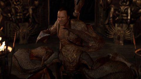 vergonzosa recreación del rey escorpión en cgi de la película el regreso de la momia