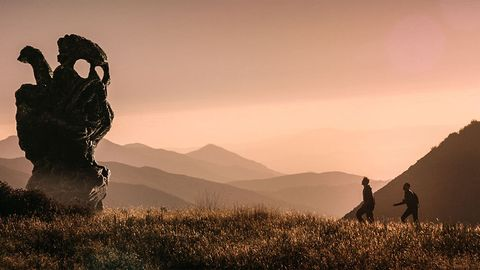 People in nature, Sky, Atmospheric phenomenon, Photography, Cloud, Hill, Landscape, Grassland, Mountain, Silhouette,