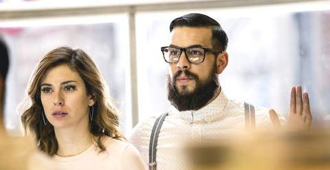 Hair, Facial hair, Beard, Eyewear, Glasses, Moustache, Vision care,