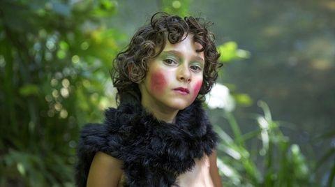 Hair, Face, Beauty, Hairstyle, Fur, Eye, Lip, Portrait, Brown hair, Grass,