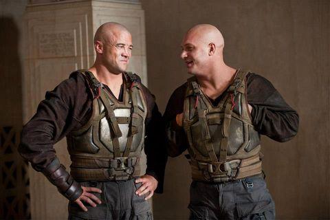 sleeve, standing, khaki, ballistic vest, leather, denim, belt, pocket, leather jacket, buzz cut,