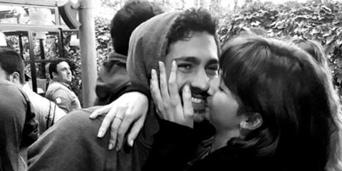 Interaction, Romance, Love, Gesture, Monochrome, Kiss, Hug, Monochrome photography, Black-and-white, Honeymoon,