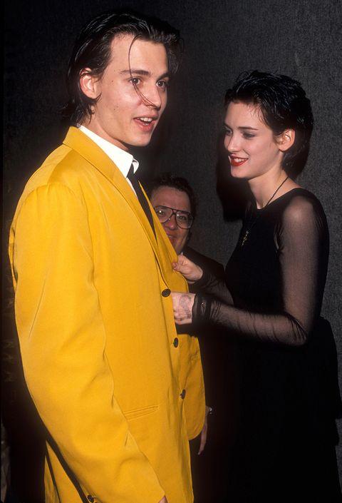 Yellow, Fashion, Formal wear, Suit, Event, Fun, Outerwear, Fashion design, Smile,