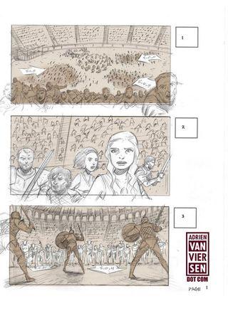 Juego De Tronos Así Era Storyboard Del Episodio Danza De