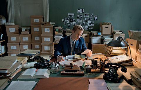 Table, Office equipment, Office supplies, Job, Employment, Box, Desk, Office, Shipping box, Writing desk,
