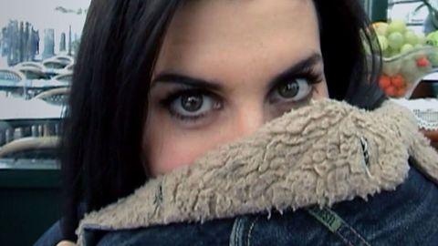 Blue, Brown, Product, Hairstyle, Skin, Eyebrow, Textile, Photograph, Eyelash, Black hair,
