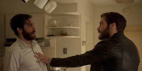 Facial hair, Sleeve, Shoulder, Dress shirt, Ceiling, Beard, Moustache, Conversation, Gesture, Kitchen appliance,