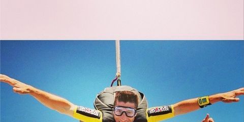 Fun, Recreation, Parachuting, Happy, Leisure, Tourism, Summer, People in nature, Personal protective equipment, Goggles,