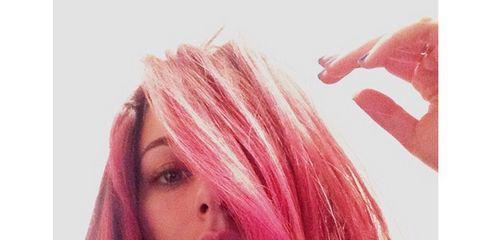 Lip, Hairstyle, Chin, Forehead, Eyebrow, Red, Pink, Style, Eyelash, Magenta,