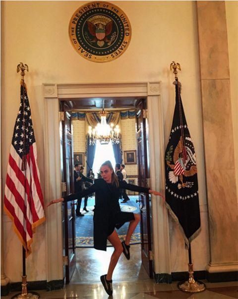 Human leg, Flag, Flag of the united states, Interior design, Waist, High heels, Tights, Banner, Flag Day (USA), One-piece garment,