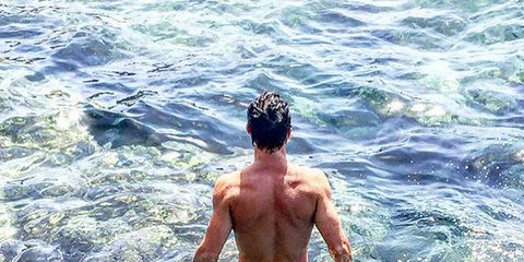 Water, Barechested, Summer, Ocean, Chest, Muscle, Sea, Back, Wave, Wind wave,