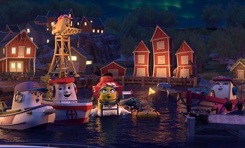 Town, Sky, Adventure game, Water, Night, Tourist attraction, Amusement park, Screenshot, Recreation, Games,
