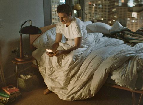 Human, Lamp, Linens, Bed sheet, Gown, Bedding, Bed, Bedroom, Blanket,