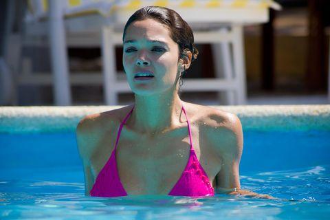 Swimming pool, Fun, Leisure, Swimwear, Chest, Summer, Aqua, Fluid, Brassiere, Trunk,