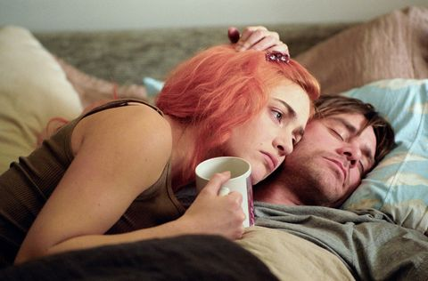 Human, Comfort, Cup, Coffee cup, Linens, Love, Bedding, Selfie, Red hair, Bed,