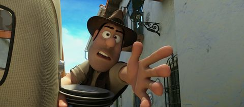 Finger, Hand, Hat, Animation, Thumb, Animated cartoon, Cartoon, Gesture, Nail, Fedora,