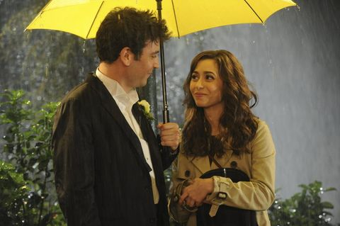 Umbrella, Yellow, Tints and shades, Blazer, Conversation, Love, Rain, Watch,