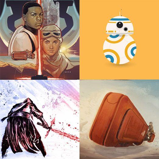 Los mejores fan-art de 'Star Wars VII: El despertar de la fuerza'