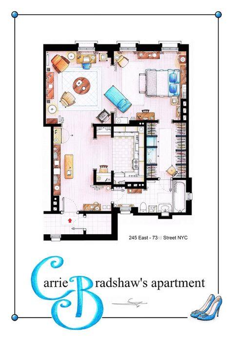 Los planos de los apartamentos y casas de las series de TV