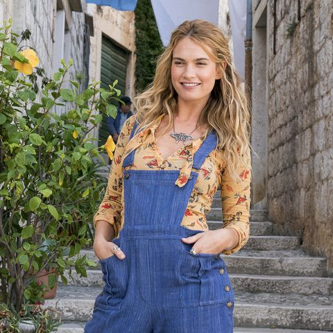 Denim, Clothing, Jeans, Overall, Blue, Street fashion, Fashion, Textile, Blond, Photo shoot,