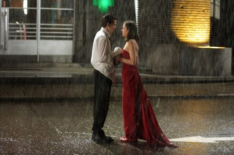 Dress, Formal wear, Balloon, Interaction, Love, Romance, Gown, Scene, Gesture, Honeymoon,