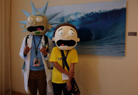 Mascot, Cartoon, Animated cartoon, Animation, Room, Illustration, Costume, Art, World, Visual arts,