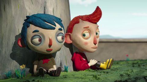 Animated cartoon, Animation, Cartoon, Toy, Illustration, Art, Lawn ornament, Clay animation, Fawn, Fictional character,