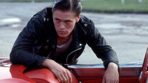 Jacket, Vehicle, Leather jacket, Recreation, Sitting,
