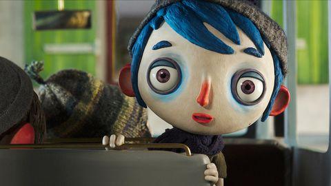 Animated cartoon, Toy, Animation, Cheek, Doll, Cartoon, Technology, Puppet, Black hair,