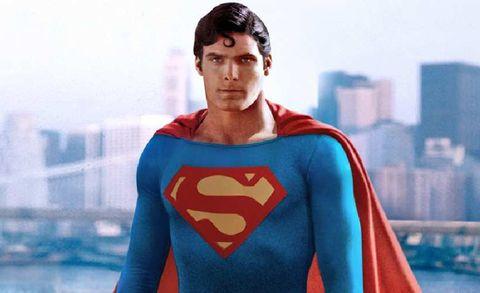 Sleeve, Human body, Fictional character, Standing, Superhero, Carmine, Electric blue, Cobalt blue, Hero, Superman,