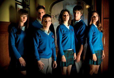 Social group, Collar, Flash photography, School uniform,