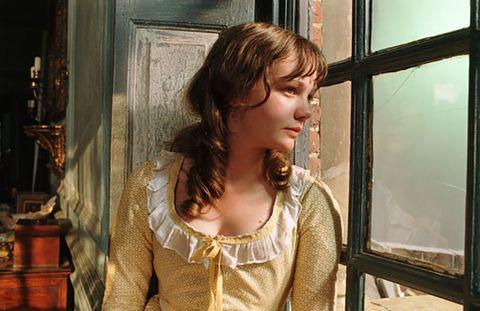 Window, Long hair, Brown hair, Smile,