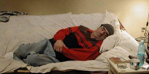 Comfort, Room, Linens, Water bottle, Bedding, Sleep, Plastic bottle, Nap, Bed sheet, Blanket,