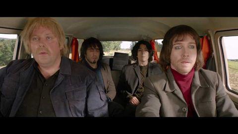 Mammal, Car seat, Jaw, Jacket, Vehicle door, Family car, Head restraint, Passenger, Car seat cover, Seat belt,