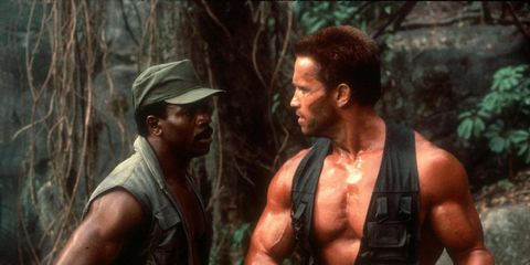 Jungle, Movie, Human, Barechested, Muscle, Action film, Screenshot, Marines, Soldier, Recreation,