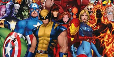 Fictional character, Red, Superhero, Cartoon, Hero, Avengers, Electric blue, Costume, Carmine, Cobalt blue,