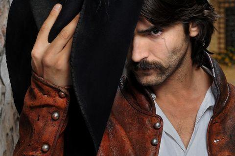 Brown, Facial hair, Collar, Beard, Moustache, Black hair, Fashion, Cool, Wrist, Leather,
