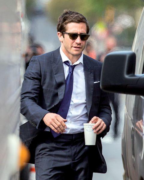 Eyewear, Glasses, Vision care, Dress shirt, Collar, Coat, Shirt, Suit trousers, Pocket, Outerwear,