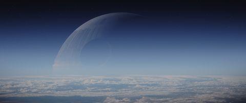 Natural environment, Atmosphere, Atmospheric phenomenon, Astronomical object, Horizon, Space, World, Arch, Calm, Bird's-eye view,
