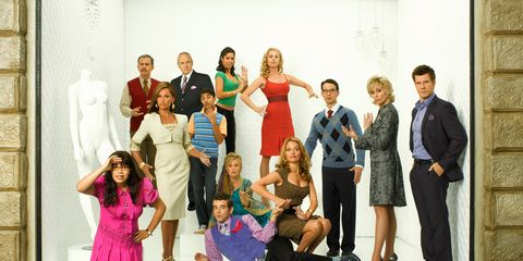 People, Dress, Formal wear, Pink, Coat, Magenta, One-piece garment, Suit trousers, Tie, Fashion design,