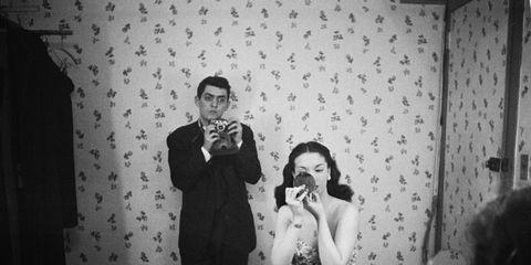 Photograph, Black-and-white, Monochrome, Monochrome photography, Snapshot, Photography, Room, Fun, Dress, Event,