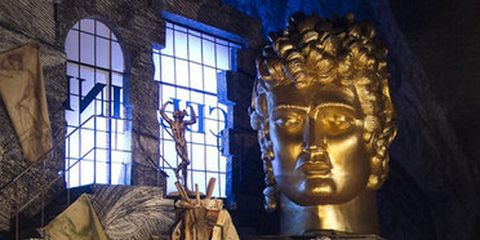 Sculpture, Art, Scene, heater, Drama, Statue, Stage, Mythology, Acting, Theatrical scenery,